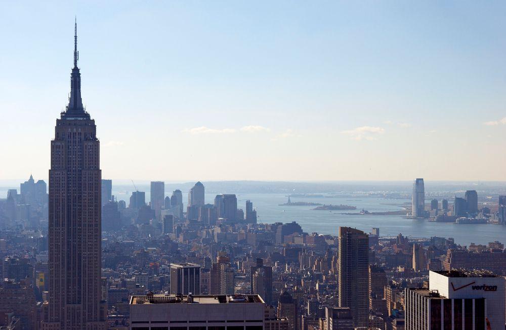 USA var verdens største olje- og gassprodusent i 2014. Dette er fjerde året på rad landet ligger på topp. Her fra New York.