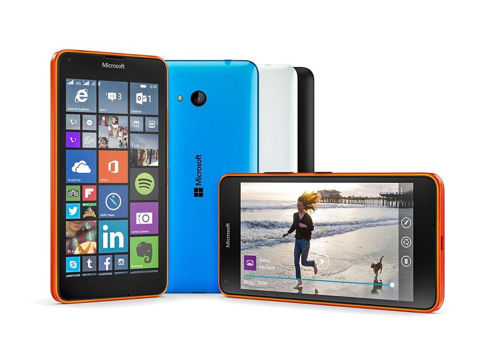 Veldig billig: Microsofts Lumia 640 med fem tommer skjerm har det meste av utstyr, men i beskjeden utgave. Likevel burde prisen på 1399 kroner være eget til å imponere. Spesielt når det følger med programvare de fleste trenger til 700 kroner.