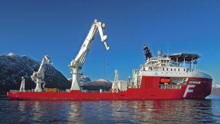Dekket på Farstad Shippings nye subseafartøy er like stort som syv tennisbaner