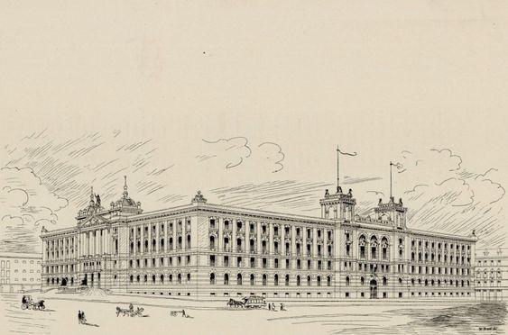Forslag til utforming av regjeringskvartal 1892
