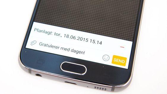 Du kan sende SMS automatisk ved å legge inn automatisk utsending på et gitt tidspunkt.