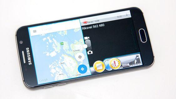 Etterhvert som mange apper har støtte for å kjøre i vindu, har side om side-funksjonen blitt stadig bedre. Her har vi Google Maps og en dashbordkameraapp aktive samtidig.