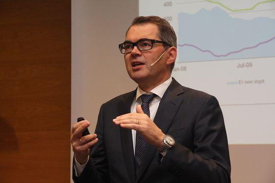 Hydro-sjef Svein Richard Brandtzæg la onsdag fram tall for første kvartal 2015: Rekordresultat på 3,2 milliarder kroner.