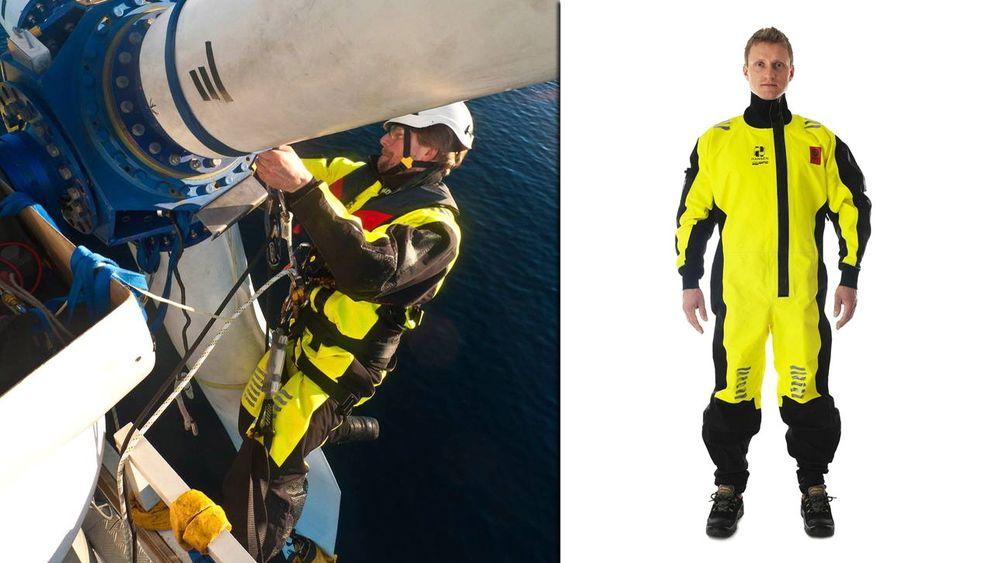 Redningsdrakten SeaWind fra Hansen Protection er den første i verden til å oppnå trippel sertifisering. Den er godkjent både av SOLAS, ISO og EASA.
