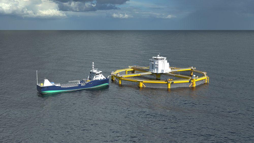 Ocean Farming skal plassere sin havmerd i Frøyhavet utenfor Trøndelag.