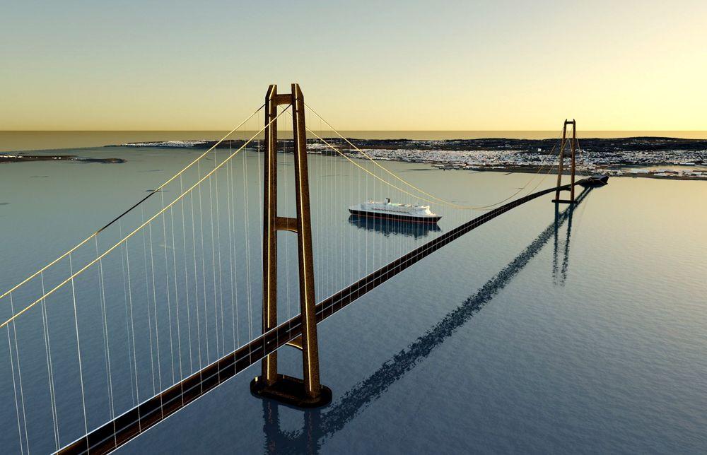 Nye muligheter: Artikkelforfatteren mener areal som blir tilgjengelig ved bygging av bro mellom Horten og Moss bør utnyttes til et solenergianlegg. ⇥Illustrasjonsfoto: Sweco.