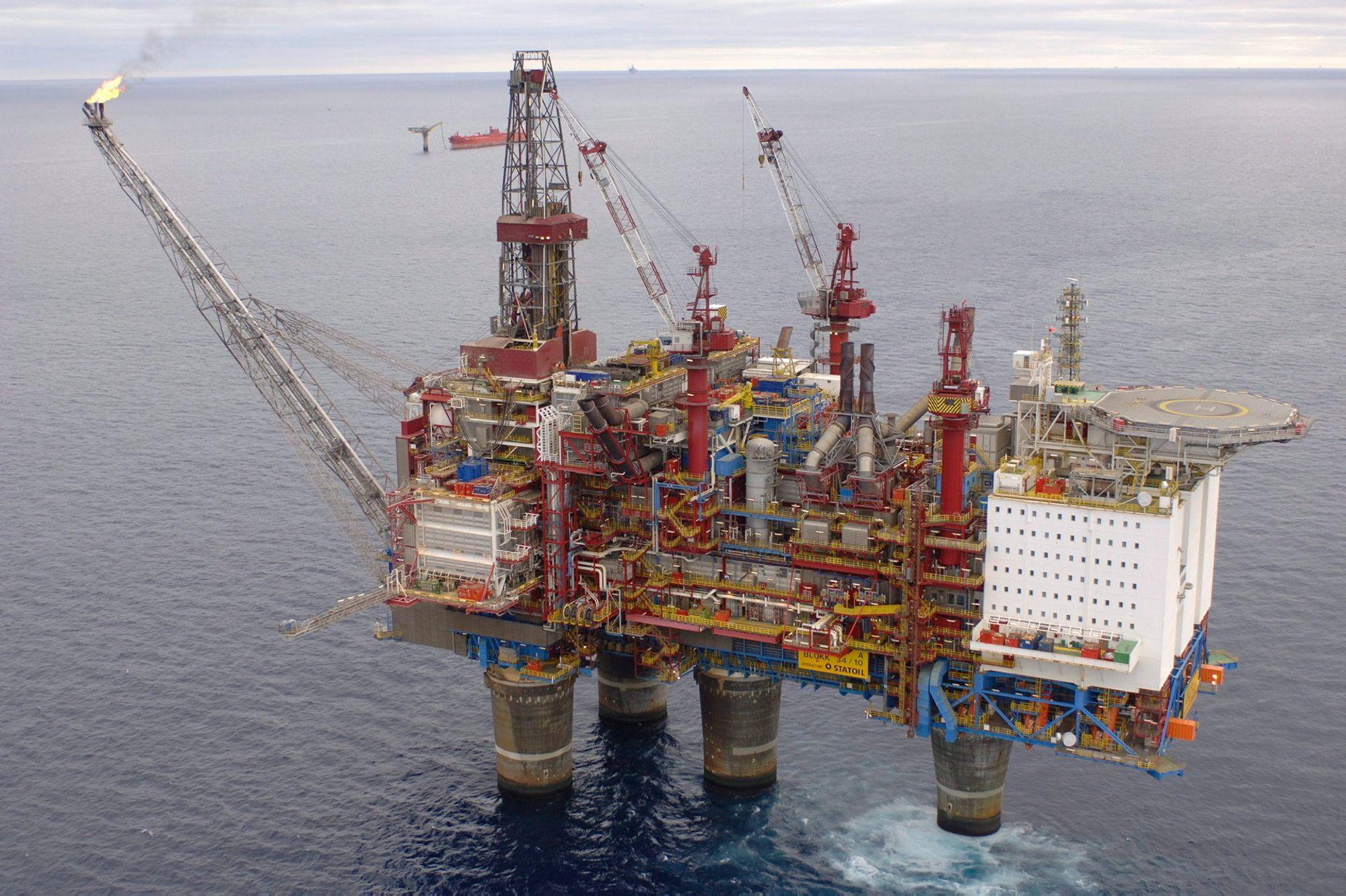 Oljeplattformer i norge antall