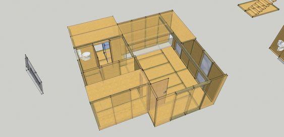 """Fleksibelt system: Nils-Henrik Henningstads system kan brukes til å bygge hytte, enebolig eller rekkehus. Et godt utgangspunkt for å leve """"off-grid"""", mener Henningstad."""