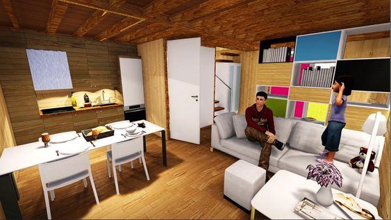 Sosial boligbygging: For å gjøre det lettere for unge mennesker å komme seg inn på boligmarkedet har Nils-Henrik Henningstad designet et fleksibelt og billig byggesystem med selvbærende moduler som kan monteres av 2-3 personer på en helg.