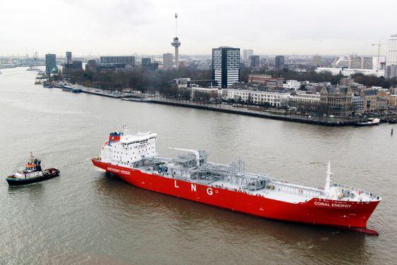 Coral Energy seiler med flytende, nedkjølt naturgass (LNG) for norske Skangass.