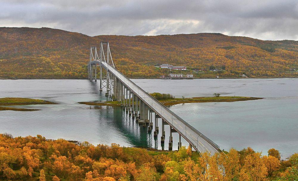 Tjeldsundbrua er en av tre bruer i Nord Norge som skal på påmontert katodisk anlegg for å forhindre korrosjon av armeringen.
