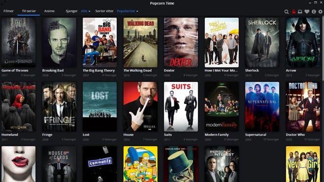 Flere og flere ser serier gratis med Popcorn Time, men er det lovlig?