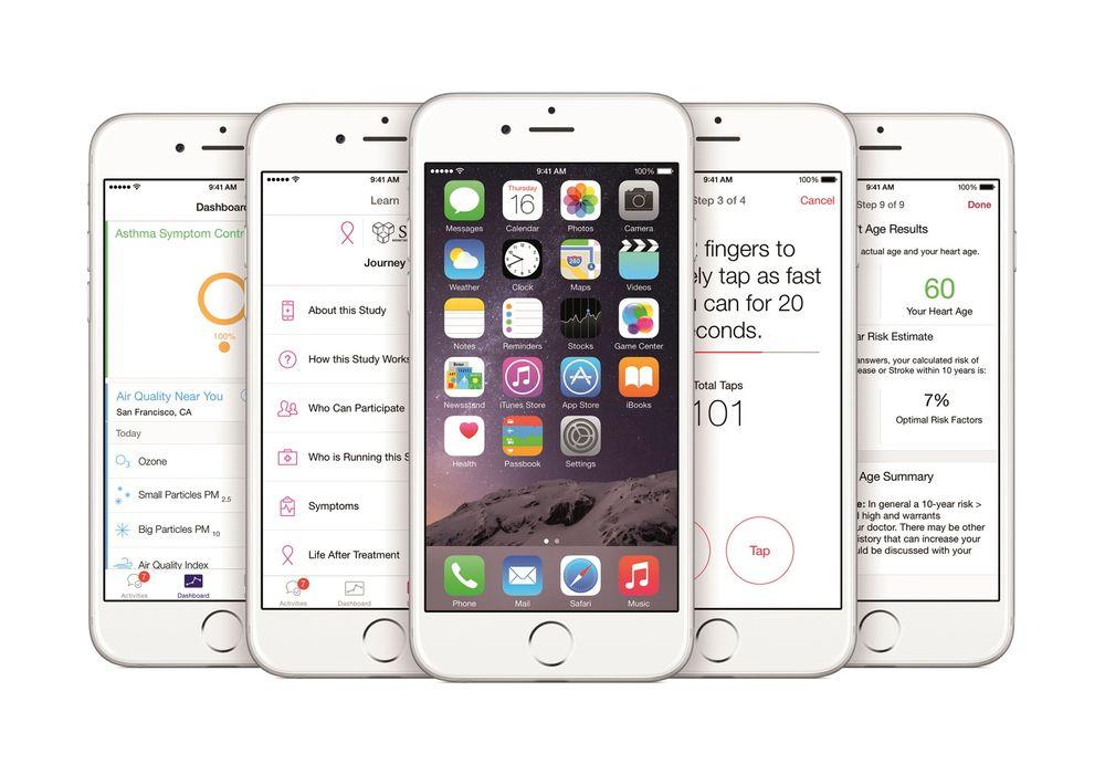 Apple lanserte mandag ResearchKit, et verktøy for å utvikle applikasjoner til medisinsk forskning til Iphone.