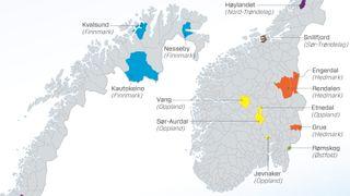 Disse 13 kommunene står fullstendig på utsiden av oljenasjonen Norge