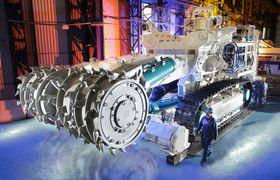 Gruvemaskin utviklet for autonom drift på 1600 meters dyp på Nautilus Minerals-prosjektet Solwara 1 i Bismarcksjøen, utenfor Papua Ny Guinea.