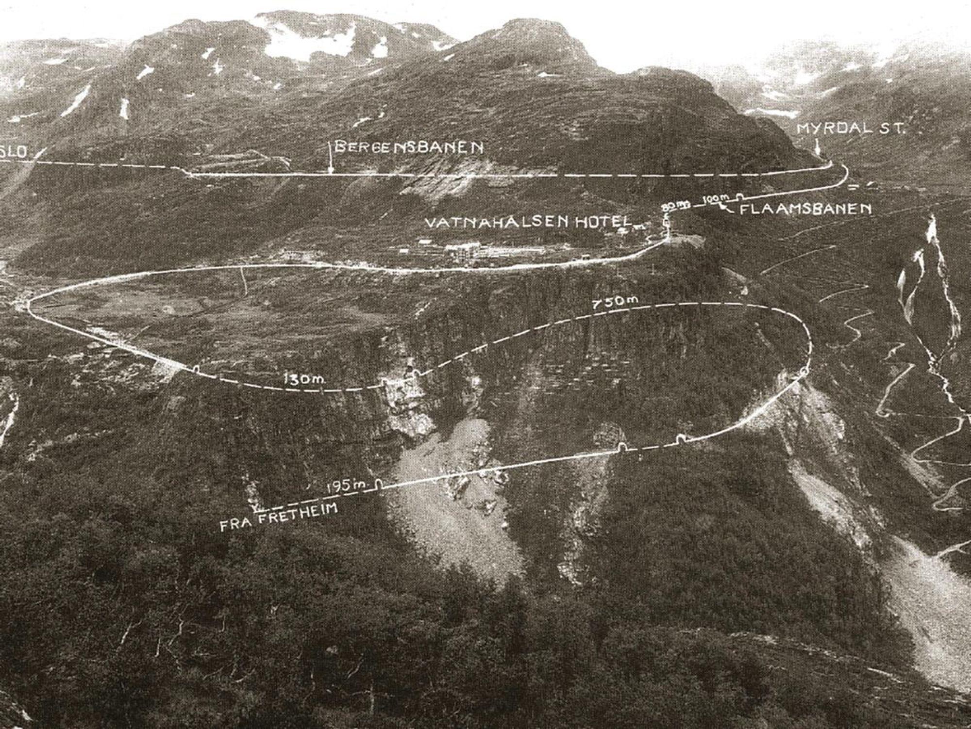 flåmsbanen kart FORSKNING: Nordmannen som bygget verdens veier   Tu.no flåmsbanen kart