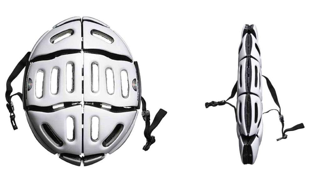 Hjelmen kan bli alt fra 3,5 centimeter til 6,3 centimeter tykk, avhengig av hvilken modell man velger.