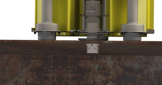 Boret kan brukes på opptil 40 mm tykke stålplater. Normalt skipsstål er 8-12 mm.