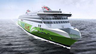 Ny ferge seiler i 27 knop på LNG