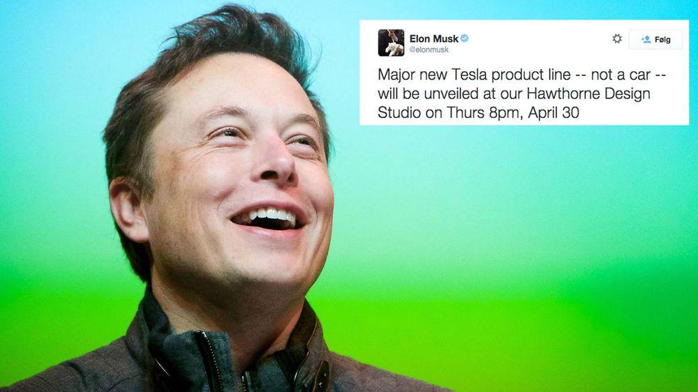 Luring: Elon Musk på Twitter. Foto: Eirik Helland Urke