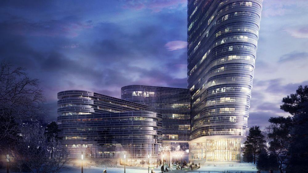 Slik kan det som vil bli en av landets høyeste bygninger bli seende ut. Høyhuset er planlagt bygget på Forus, og har foreløpig fått navnet «The Twist».