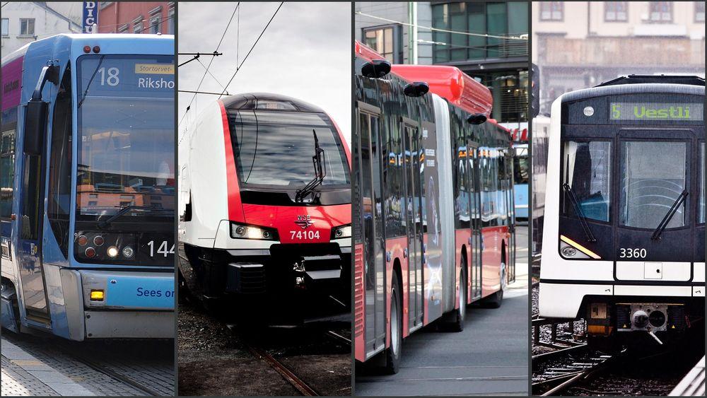 I 2060 må kollektivtransporten være dimensjonert for 600 millioner reiser, melder Ruter.