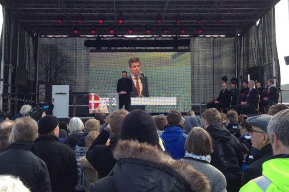 Kronprins Haakon gjør seg klar til å åpne Skagerrak 4.
