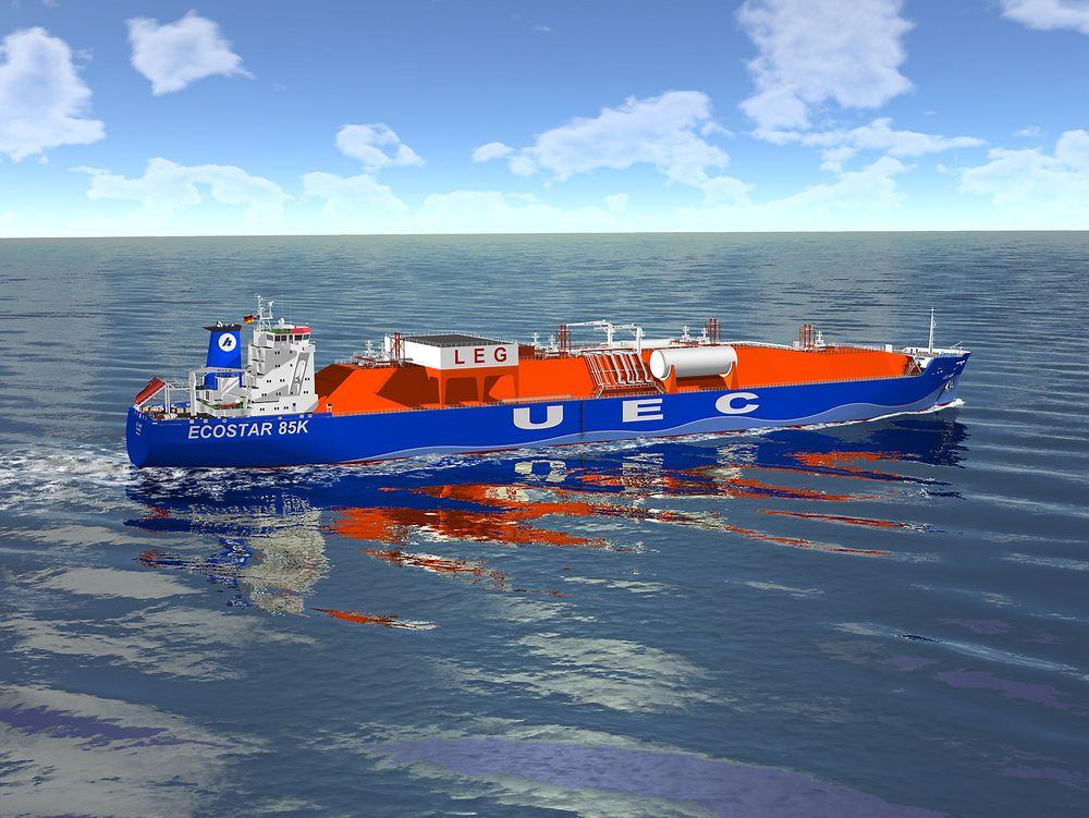 Låner last: Tyske Hartmanns 85.000 kubikkmeters etantakere skal ha MAN-motorer som kan gå på etan i tillegg til LNG og andre typer drivstoff.