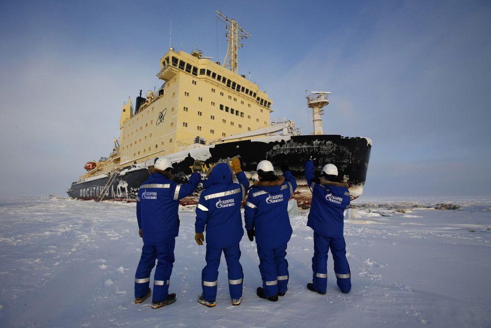 Gazproms oljelast ble eksportert av atomisbryteren «Taimir».