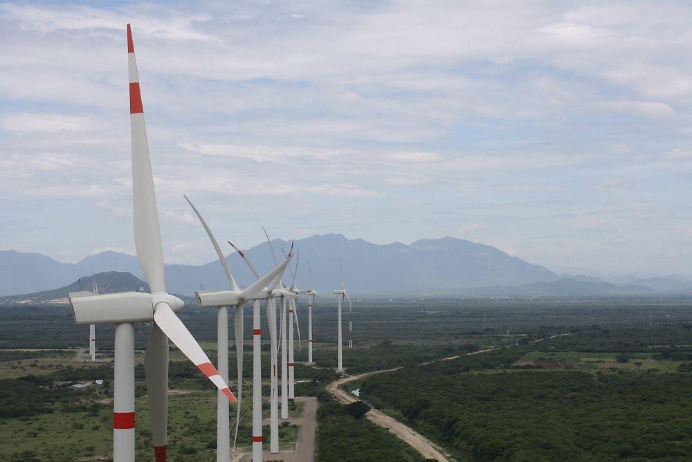 General Motors har inngått en avtale med Enel Green Power om å bygge en vindpark i Mexico. Her er en av de andre vindparkene selskapet har bygget i Mexico.