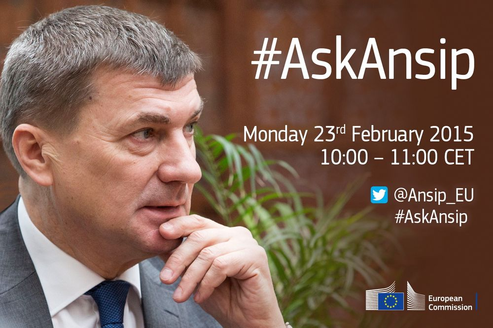 Slik inviterer EUs digitale leder Andrus Ansip hele Europa til debatt på Twitter for å finne de egentlige problemene med utveksling av digitale ressurser, varer og tjenester på tvers av landegrensene.