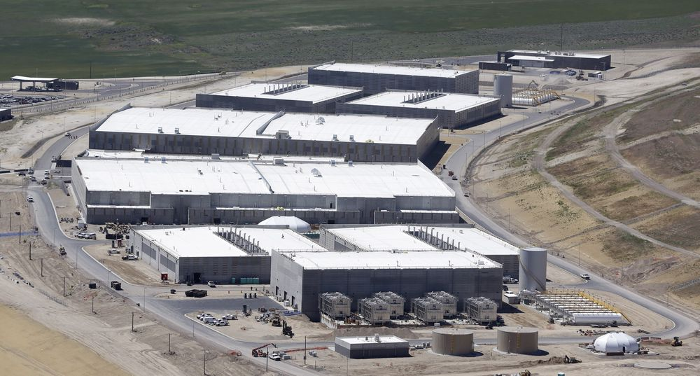 Senter: Bildet viser NSAs datasenter utenfor Salt Lake City i Utah. Organiasjonen er igjen utsatt for anklager om ulovlig overvåking.