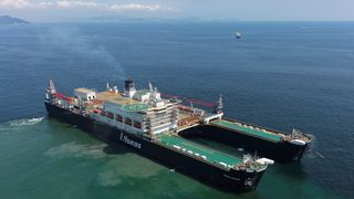 Nå er gigantskipet som skal løfte Yme sjøsatt
