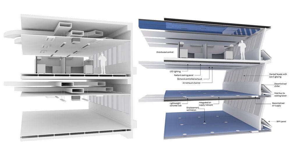 Med den nye byggekonstruksjonen skal det bli plass til tre etasjer der det tidligere kun var to etasjer.