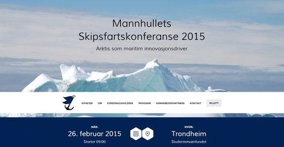 """For tredje gang arrangerer studentene ved Marin Teknikk på NTNU skipsfartskonferanse. Temaet i år er """"Arktis som maritim innovasjonsdriver""""."""
