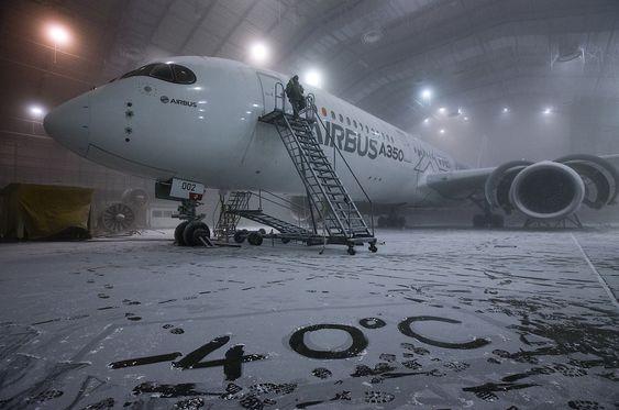 Her er et A35 XWB (MSN2) på besøk på McKinley-testanlegget for ni måneder siden.