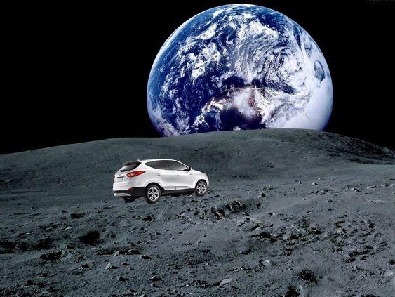 Hyundai ix35 fuel cell, eller Tucson som den heter i USA, har til sammen kjørt avstanden mellom Jorda og Månen.
