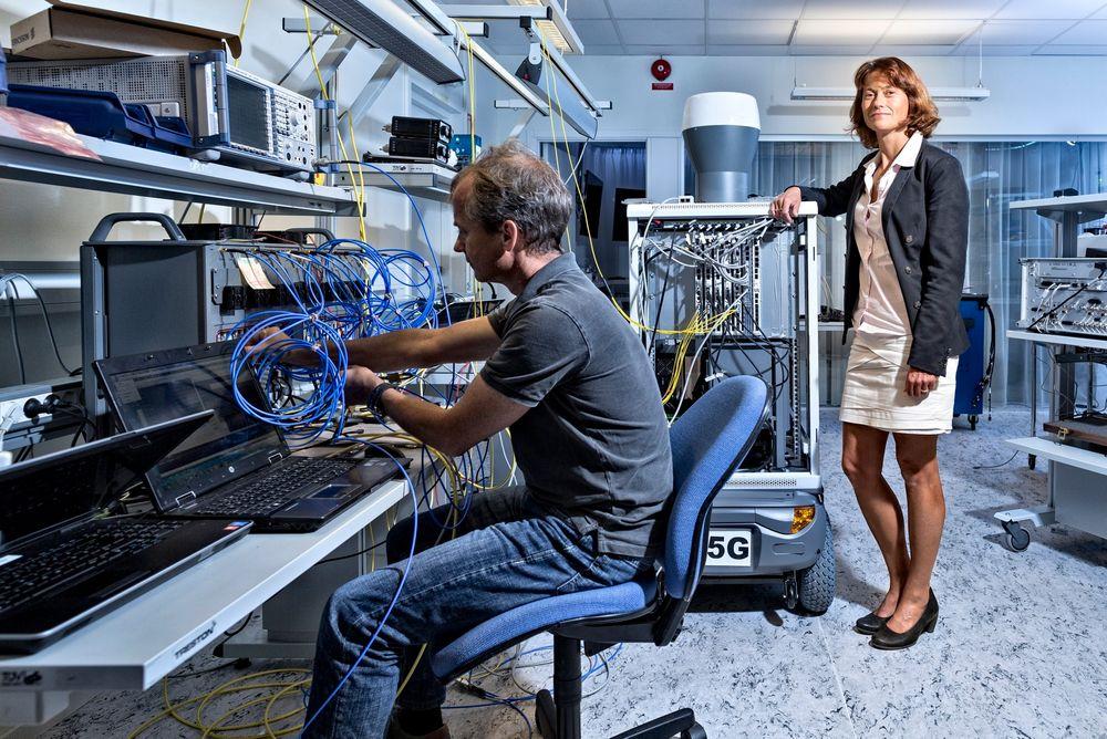 Forskningssjef: Sara Mazur leder 650 forskere hos  Ericsson og nå har de fullt fokus på 5G og alt det andre som må til for å bygge ut de nye mulighetene som kommer i kjølvannet av det superraske datanettet.
