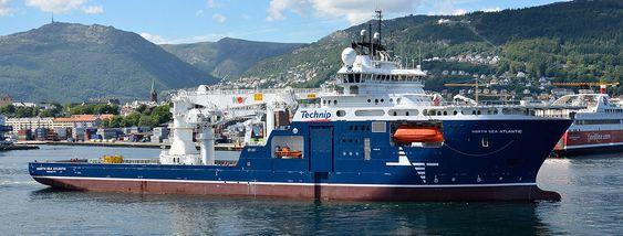 Nortjh SeaAtlantic ble levert fra Noryards i Bergen i juli i fjor.Skipet har en 550 tonns-kran fra NOV og er leid ut til Technip på seksårskontrakt.