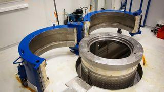 I denne tanken skal Siemens teste at utstyret deres fungerer på 3000 meters dyp