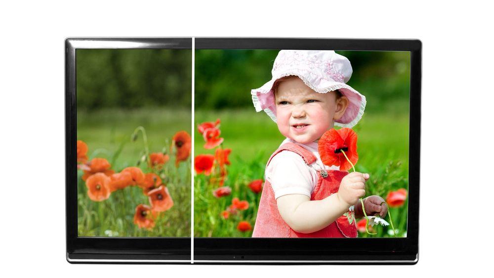 Lysere og med rikere farger: En LCD-skjerm med kvanteprikker i bakbelysningen vil ha et større dynamikkområde på grunn av vesentlig høyere lysstyrke. Derfor kan man realisere såkalt HDR når man samtidig benytter LCD-paneler med 10-bits oppløsning per primærfarge. Den vil også gi et større fargeområde i det røde og grønne området.