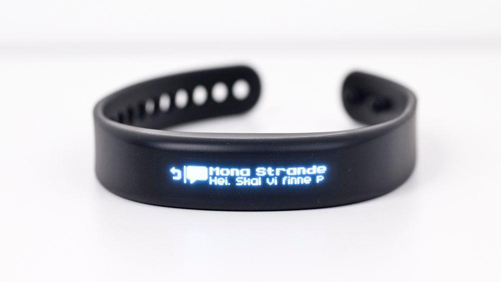 Garmin Vivosmart vibrerer på håndleddet hver gang det skjer noe som fortjener et push-varsel på telefonen din.