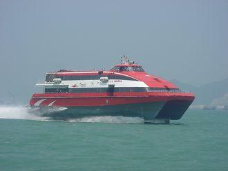 TurboJETs Foilcat-katamaran hydrolift «Barca».