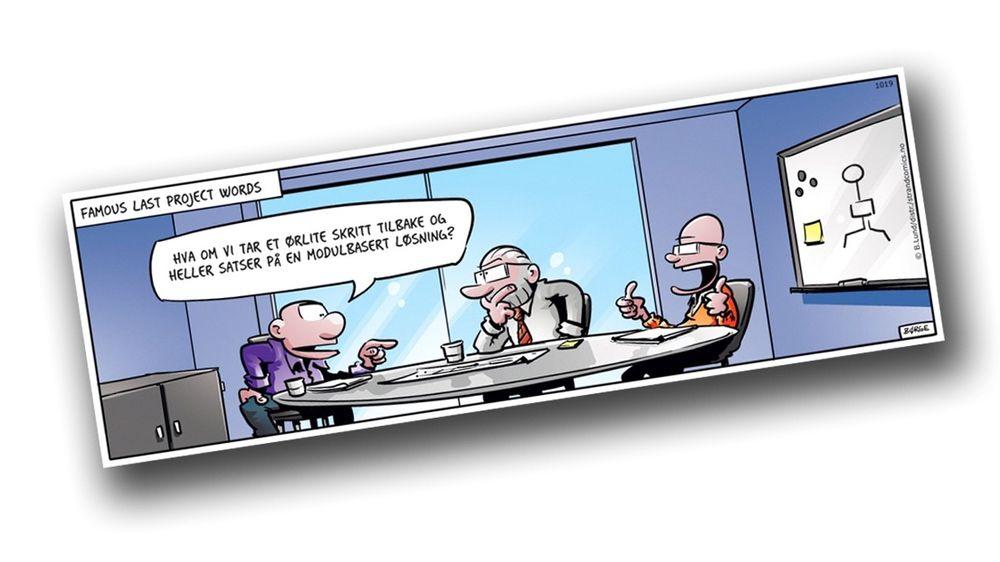 Inspirasjonen til denne saken kom fra denne stripen fra tegneserien Lunch. Hvor er det egentlig prosjekter feiler?