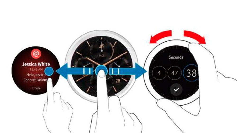 Samsungs neste smartklokke får rund skjerm og maskinvarekontroller som fungerer omtrent som på Apple Watch.