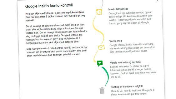 Googles Inaktiv konto-kontroll lar deg ta kontroll over hva som skjer med Google-kontoen din når du går bort eller blir varig ute av stand til å ta vare på deg selv.
