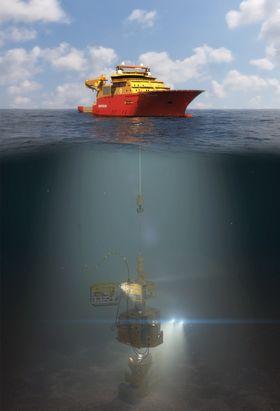 Konseptet til Optime Subsea Services er å bruke mindre og rimeligere fartøy til subseainstallasjoner.
