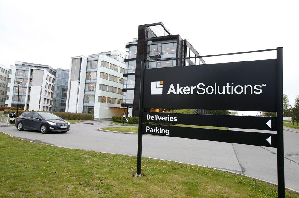 Pågrepet: Politiets sikkerhetstjeneste gikk til aksjon mot Aker Solutions sitt kontor på Fornebu mandag.