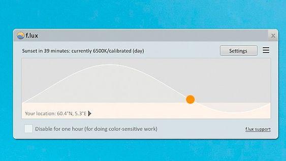 F.lux lar deg filtrere skjermen på datamaskinen din.