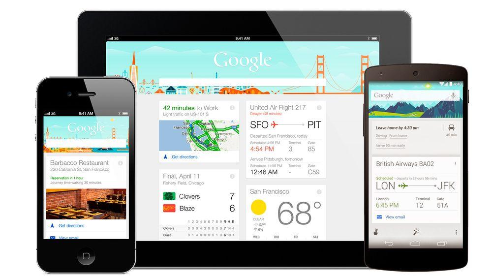 Google Now utnytter de så smått urovekkende mengdene informasjon Google har om deg for å gi deg den informasjonen du trenger når du trenger den. Foto: Google